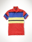 Ralph lauren polo classic fit multi striped coral